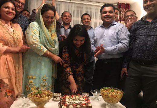 লন্ডনে নাসির উদ্দিন মিঠু'র সম্মানে নৈশ্যভোজ