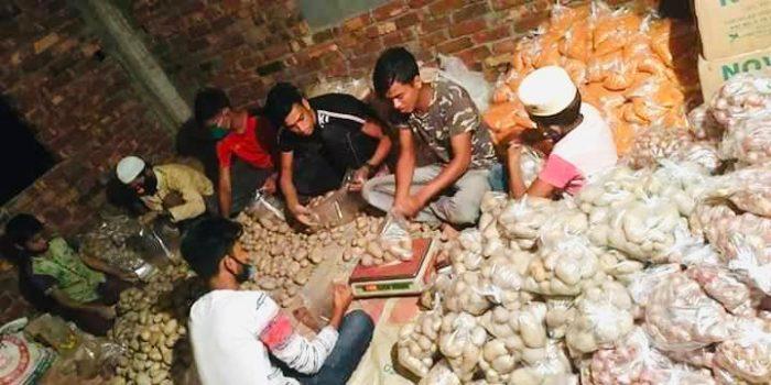 কুমিল্লার চান্দলায় ২০০ পরিবারের মাঝে প্রবাসীদের খাদ্য সামগ্রী বিতরণ