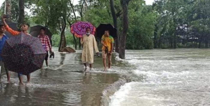 পাহাড়ী ঢলে জৈন্তাপুর উপজলার নিন্মাঞ্চল প্লাবিত